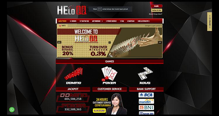 HeloQQ Agen Poker Online Terpopuler