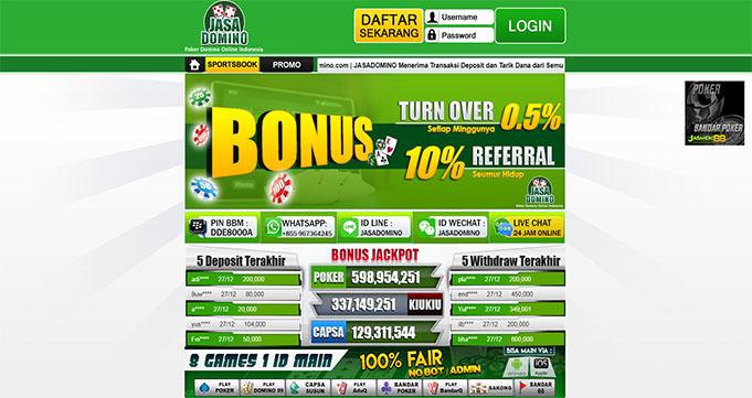 JasaDomino Situs Poker Online Uang Asli