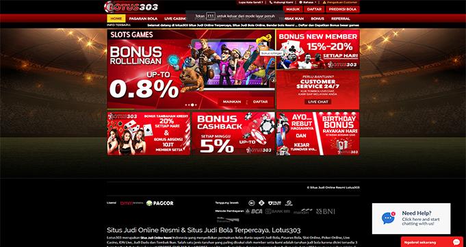 Lotus303 Agen Judi Online & Situs Bola Terbesar