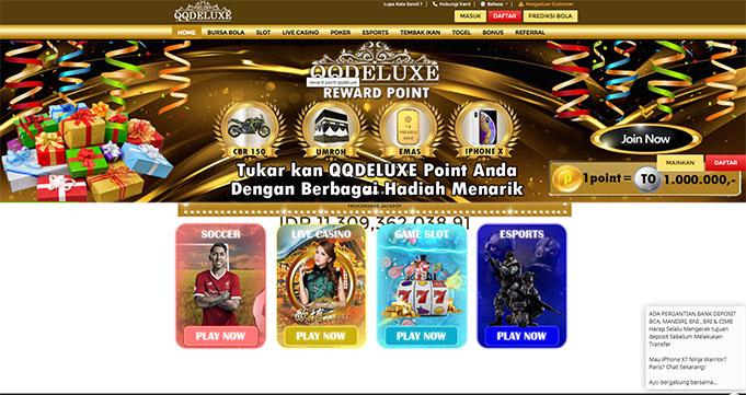 QQDeluxe Agen Judi Online & Bandar Bola Online Resmi